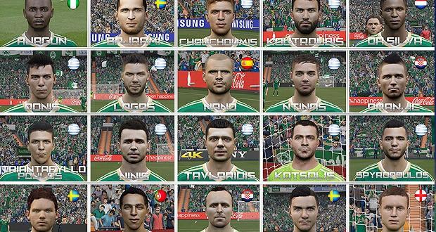 Пак лиц для FIFA 15