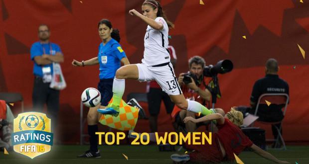 FIFA 16 Women Ratings (Top 20)