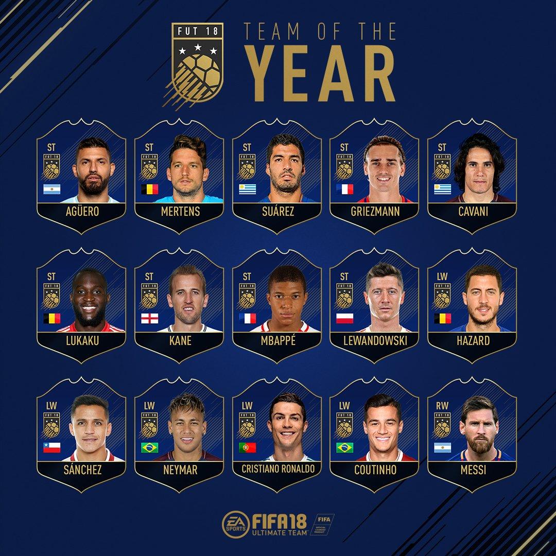 Fut 18 Team Of The Year