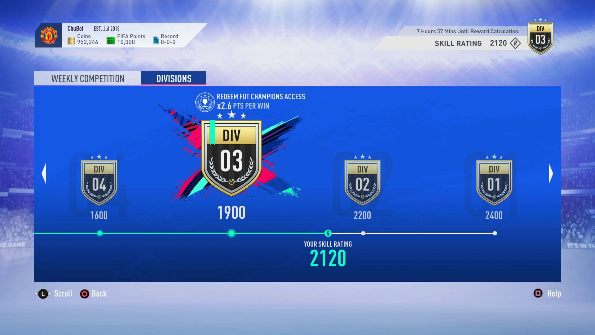 New Fifa Ultimate Team 19 Mode Division Rivals